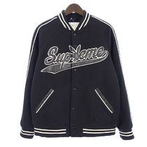Supreme x PLAYBOY FW17 Wool Varsity Jacket (ステッカー付き)