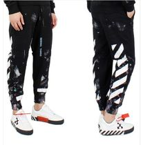Off-White★メンズDIAGONAL GALAXY BRUSHEDジョガーパンツ