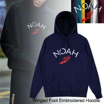 20SS◆NEW◆お早めに◆NOAH◆Winged Foot Embroidered Hoodie