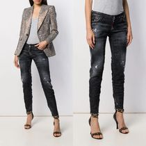 2020SS DSQUARED2  Tapered-Jeans im Distressed-Look
