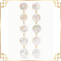 【国内発送】Gold-plated pearl earrings