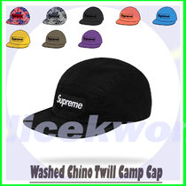 6 Week SS 20 Supreme Washed Chino Twill Camp Cap