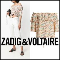 ZADIG&VOLTAIRE★TEASE BUTTERFLY TOP オフショルブラウス