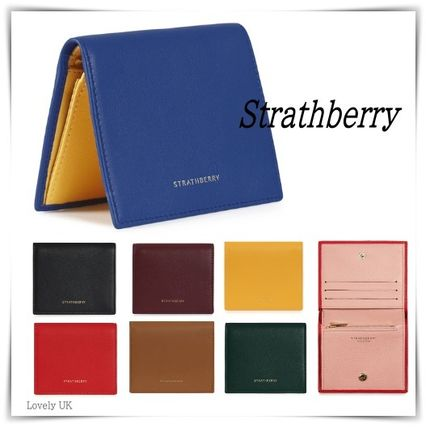 STRATHBERRY 折りたたみ財布 メガン妃愛用★Strathberry★WALKERS STREET WALLETレザー財布