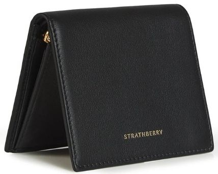 STRATHBERRY 折りたたみ財布 メガン妃愛用★Strathberry★WALKERS STREET WALLETレザー財布(2)