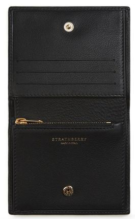 STRATHBERRY 折りたたみ財布 メガン妃愛用★Strathberry★WALKERS STREET WALLETレザー財布(3)