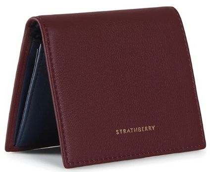 STRATHBERRY 折りたたみ財布 メガン妃愛用★Strathberry★WALKERS STREET WALLETレザー財布(4)