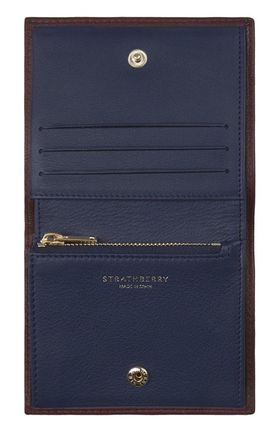 STRATHBERRY 折りたたみ財布 メガン妃愛用★Strathberry★WALKERS STREET WALLETレザー財布(5)
