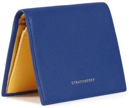 STRATHBERRY 折りたたみ財布 メガン妃愛用★Strathberry★WALKERS STREET WALLETレザー財布(8)