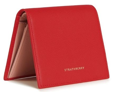 STRATHBERRY 折りたたみ財布 メガン妃愛用★Strathberry★WALKERS STREET WALLETレザー財布(12)