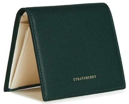 STRATHBERRY 折りたたみ財布 メガン妃愛用★Strathberry★WALKERS STREET WALLETレザー財布(14)