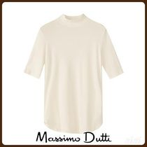 MassimoDutti♪COTTON HIGH NECK T-SHIRT
