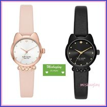 【kate spade】可愛い猫ちゃん♪three-hand cat leather watch★