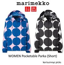 限定コラボ*マリメッコ x UNIQLO WOMEN Pocketable Parka Short
