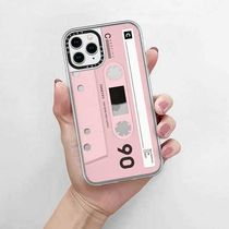 【Casetify】★iPhoneグリップ★昭和カセット ピンク