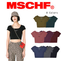 〜MISCHIEF〜 FITTED BASIC TEE_ 全8色 - ロゴショート丈トップ