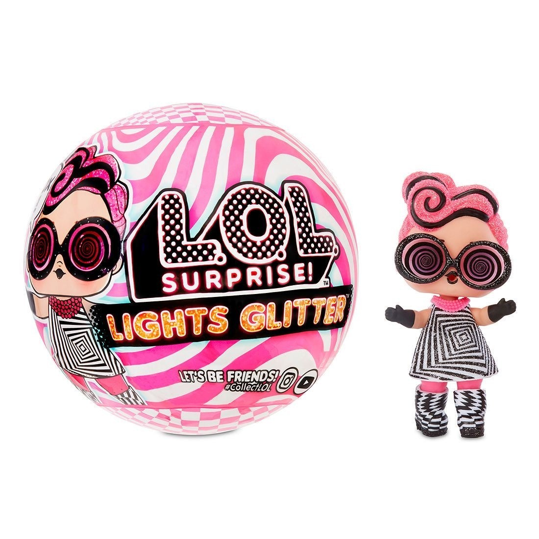 Ball to Bag AUTHENTIC LOL Surprise LIGHTS GLITTER ICE