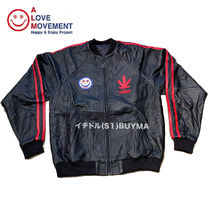 "A LOVE MOVEMENT ALM xTATA Recycled Leather Jacket ""Love"""
