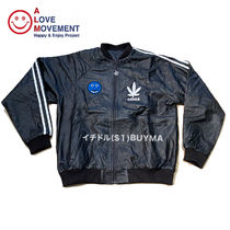 "A LOVE MOVEMENT ALM xTATA Recycled Leather Jacket ""Happy"""