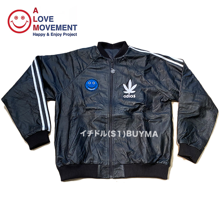 """A LOVE MOVEMENT ALM xTATA Recycled Leather Jacket """"Happy"""" (A LOVE MOVEMENT/レザージャケット) 53097843"""