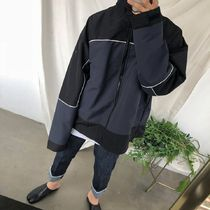 [ASCLO] Contrasting Color Block Wind Breaker (2 Color)