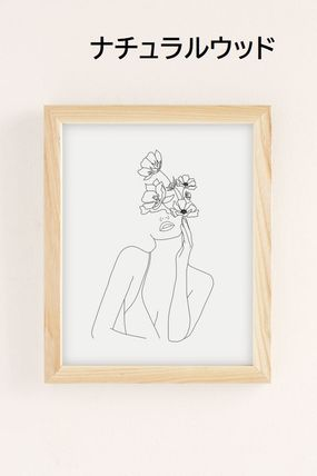 Urban Outfitters キャンバスアート・絵画 【Urban Outfitters】Nadjaラインアート20×25cm 選べるフレーム(4)