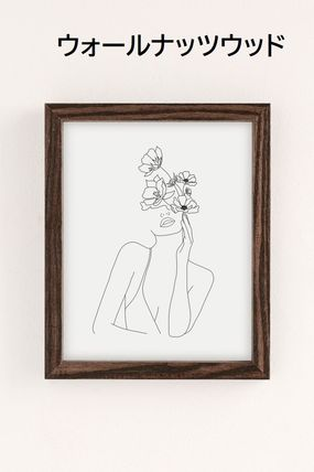 Urban Outfitters キャンバスアート・絵画 【Urban Outfitters】Nadjaラインアート20×25cm 選べるフレーム(5)