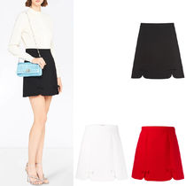 MM1171 FAILLE CADY SKIRT WITH RIBBON