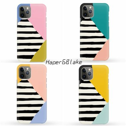 Harper & Blake スマホケース・テックアクセサリー [Haper&Blake]Block Shapes Stripes *Phone Case