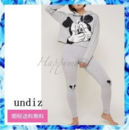 undiz ルームウェア・パジャマ Undiz*mickijumpiz mickey hooded sweatshirt leggings ○関送込