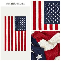 【POLO RALPH LAUREN】☆人気☆ Flag Cable-Knit Throw Blanket