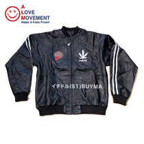 "A LOVE MOVEMENT ALM xTATA Recycled Leather Jacket ""Happy?"""