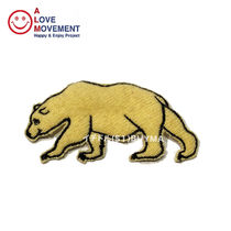 A LOVE MOVEMENT California Bear Patch 2 カシミア パッチ ALM
