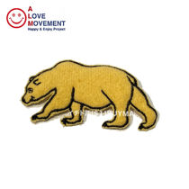 A LOVE MOVEMENT California Bear Patch 5 カシミア パッチ ALM