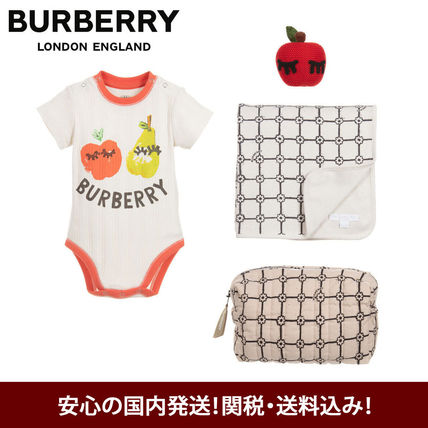 SALE♪Burberry ベビー半袖ロンパース ギフトセット☆出産祝い