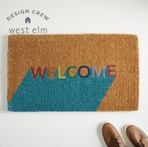 【West Elm】Welcome 玄関マット フロアマット  関税・送料込