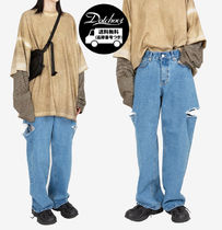 Raucohouse DOUBLE CUT-OFF WIDE JEANS MG26 追跡付