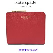 KATE SPADE PWRU7160 611 MARGAUX SMALL BIFOLD レッド (新品)
