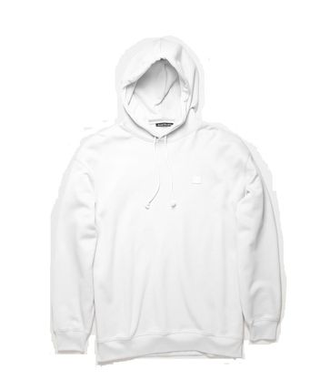 Acne パーカー・フーディ Acne Farrin Face-patch Hooded フェイス付リラックスパーカー白(7)