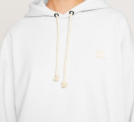 Acne パーカー・フーディ Acne Farrin Face-patch Hooded フェイス付リラックスパーカー白(8)