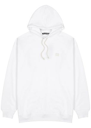 Acne パーカー・フーディ Acne Farrin Face-patch Hooded フェイス付リラックスパーカー白(10)