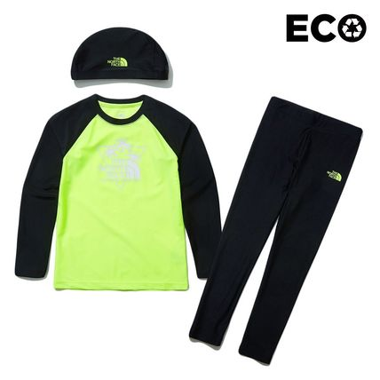 THE NORTH FACE 子供用水着・ビーチグッズ [THE NORTH FACE]★ 20SS NEW ★K'S SAVE OCEAN RASHGUARD SET(9)
