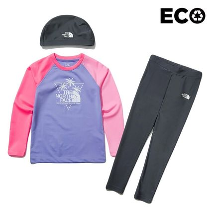 THE NORTH FACE 子供用水着・ビーチグッズ [THE NORTH FACE]★ 20SS NEW ★K'S SAVE OCEAN RASHGUARD SET(15)