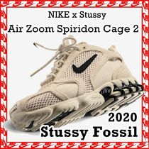 Stussy x Nike Air Zoom Spiridon Cage 2 Fossil 2020 SS 20