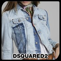 ●関税・送料込●Dsquared2 Light Dark Patch Denim Jacket