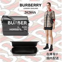 20SS☆BURBERRY☆大人気 ホースフェリープリント レザーバッグ