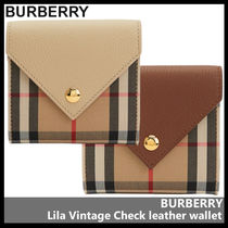 【BURBERRY】Lila Vintage Check leather wallet 802611