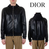 DIOR HOODED REVERSIBLE LAMBSKIN LEATHER JACKET