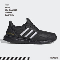 人気話題!adidas Ultra Boost DNA Superstar Black White