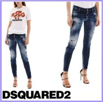 2020SS DSQUARED2  JEANS WITH ZIPPED CUFFS